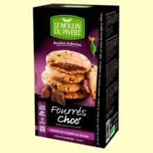 Cookies Rellenas de Chocolate Bio - 175 gramos - Le Moulin du Pivert