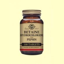 Betaína Clorhidrato con Pepsina - 100 comprimidos - Solgar