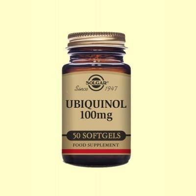 Ubiquinol 100 mg - Coenzima Q-10 - 50 cápsulas blandas - Solgar