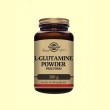 L-Glutamina en polvo - 200 gramos - Solgar