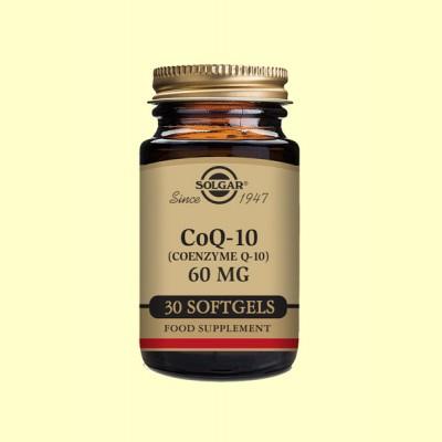 Coenzima CoQ-10 - 60 mg en aceite - 30 cápsulas - Solgar
