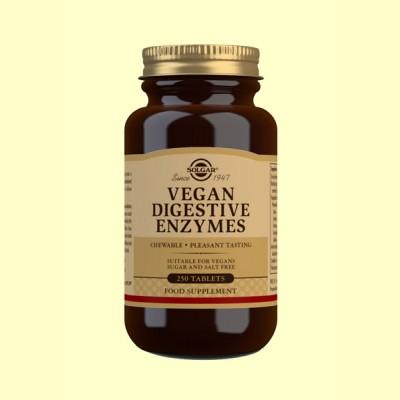 Vegan Enzimas Digestivas - 250 comprimidos - Solgar