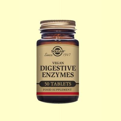 Vegan Enzimas Digestivas - 50 comprimidos - Solgar
