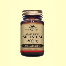 Selenio en Levadura 200 g - 50 comprimidos - Solgar