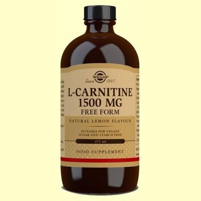 L-Carnitina Líquida 1500 mg - 473 ml - Solgar