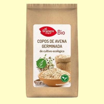 Copos de Avena Germinada Bio - 400 mg - El Granero