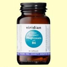 Magnesio de Alta Potencia con B6 - 30 Cápsulas - Viridian