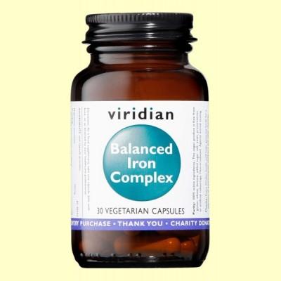 Hierro Balanceado Complex - 30 Cápsulas - Viridian