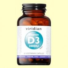 Vitamina D3 Vegana 2000ui - 60 Cápsulas - Viridian