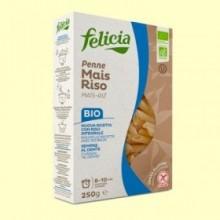 Penne de Maíz y Arroz Bio - 250 gramos - Felicia