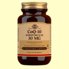 Coenzima Q-10 30 mg - 30 cápsulas vegetales - Solgar
