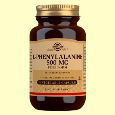 L-Fenilalanina 500 mg - Aminoácidos - Solgar - 50 cápsulas