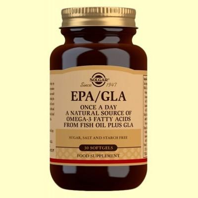 EPA/GLA (Una al Día) - 30 cápsulas blandas - Solgar