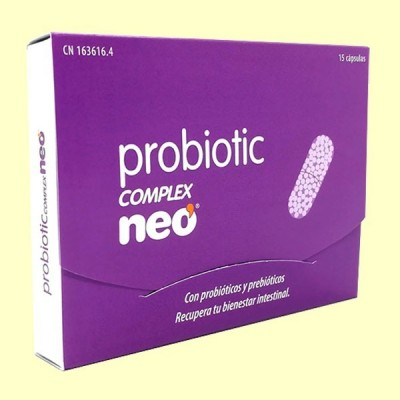 Probiotic Complex - Regulador intestinal - 15 cápsulas - Neo