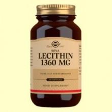 Lecitina de Soja 1360 mg - 250 cápsulas blandas - Solgar