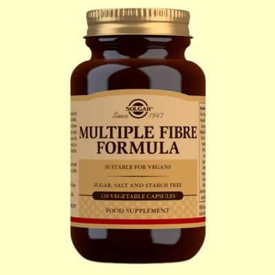 Fórmula de Fibra Múltiple - 120 cápsulas vegetales - Solgar