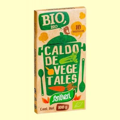 Caldo de Vegetales Bio - 10 pastillas - Santiveri
