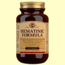 Fórmula Hematínica - 100 comprimidos - Solgar