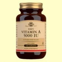 Vitamina A Seca con Vitamina C - 100 comprimidos - Solgar