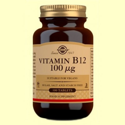Vitamina B12 100 μg - 100 comprimidos - Solgar
