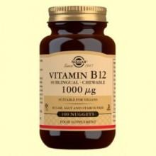 Vitamina B12 1000 μg - 100 comprimidos masticables - Solgar