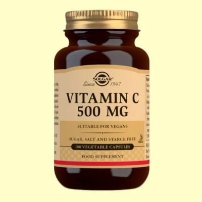 Vitamina C 500 mg - 100 cápsulas vegetales - Solgar