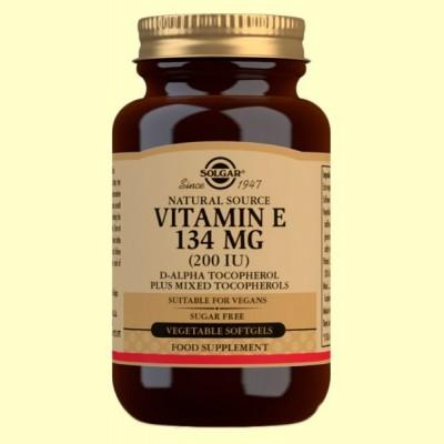 Vitamina E 134mg 200UI - 100 cápsulas blandas vegetales - Solgar