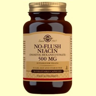 Niacina No Ruborizante 500mg - 50 cápsulas vegetales - Solgar
