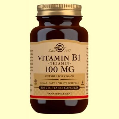 Vitamina B1 Tiamina 100mg - 100 cápsulas vegetales - Solgar