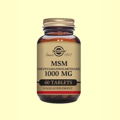MSM 1000 mg - 60 comprimidos - Solgar