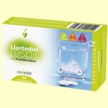 Llantediet - Sistema Respiratorio - 20 comprimidos efervescentes - Novadiet