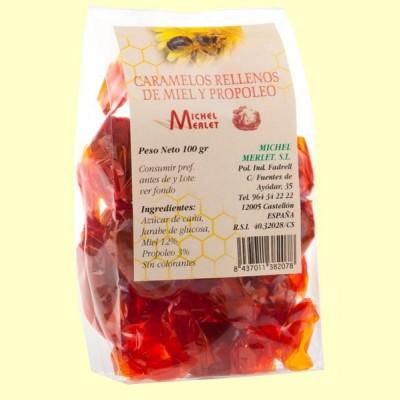 Caramelos Rellenos de Miel y Propóleo - 100 gramos - Michel Merlet
