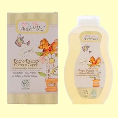 Gel de baño y Champú Delicado Baby eco - 400 ml - Baby Anthyllis