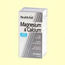Magnesio + Calcio - 90 comprimidos - Health Aid