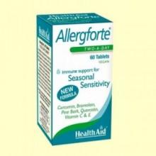 Allergforte - Ayuda contra las alergias - 60 comprimidos - Health Aid
