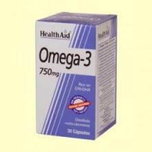 Omega-3 750 mg - 60 cápsulas - Health Aid