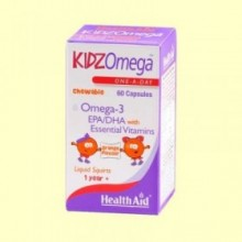 Kidz Omega Masticable - 60 cápsulas - Health Aid