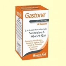 Gastone - Carbón puro activado - 60 cápsulas - Health Aid