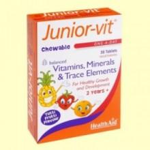 Junior-Vit - Multinutriente infantil - Health Aid - 30 comprimidos