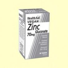 Gluconato de Zinc 70 mg - 90 comprimidos - Health Aid