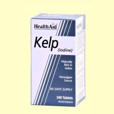 Kelp Noruego - Rico en yodo - 240 comprimidos - Health Aid