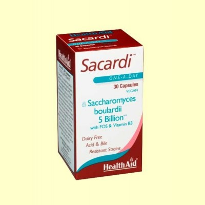Sacardi - 30 cápsulas - Health Aid