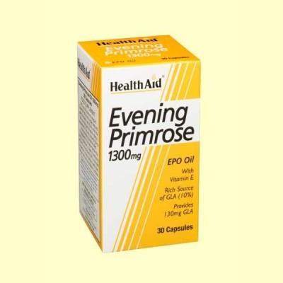 Aceite de Onagra 1300 mg con vitamina E - 30 cápsulas - Health Aid