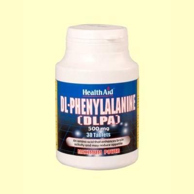 DLPA (DL-Fenilalanina) 500 mg - 30 comprimidos - Health Aid