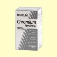 Chromium - Cromo Picolinato - 60 comprimidos - Health Aid