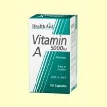 Vitamina A 5000 UI con Vitamina D 400 UI - 100 cápsulas - Health Aid