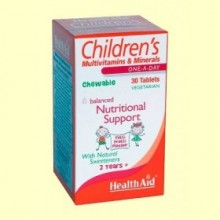 Multinutriente Children's infantil - 30 comprimidos - Health Aid