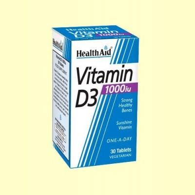 Vitamina D3 1.000 UI - 30 comprimidos - Health Aid