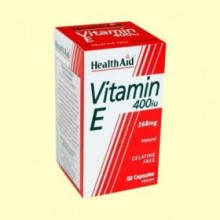 Vitamina E Natural 400 UI - 60 cápsulas - Health Aid