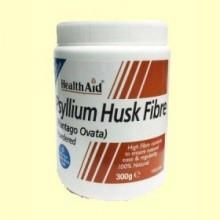Fibra de cáscara de Psyllium Polvo - 300 gramos - Health Aid